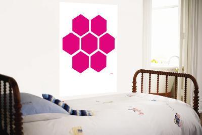 Pink Honeycomb-Avalisa-Wall Mural