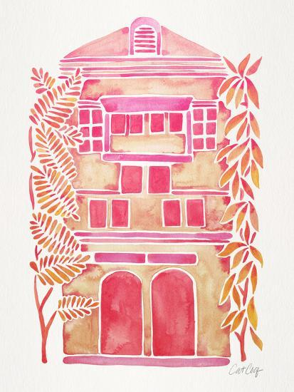 Pink House-Cat Coquillette-Giclee Print