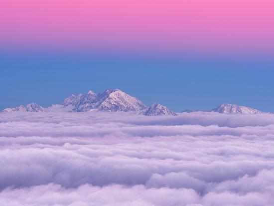 Pink in the Sky-Ales Krivec-Photographic Print