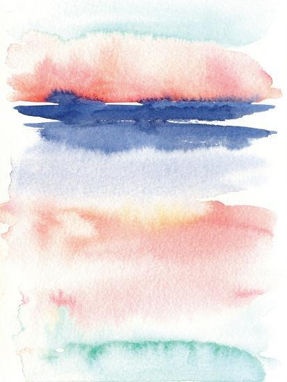 Pink Landscape Abstract I-Elise Engh-Art Print