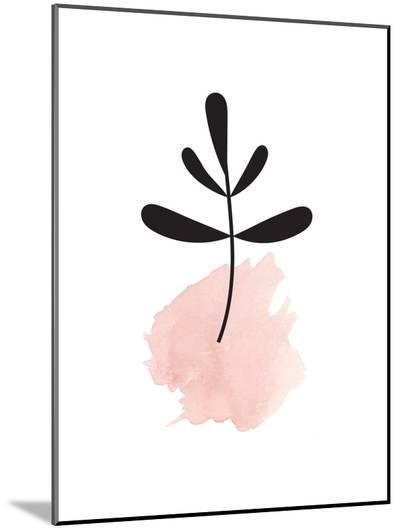 Pink Leaf--Mounted Print