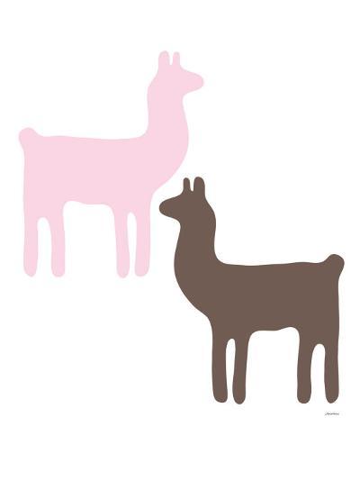 Pink Llama Couple-Avalisa-Art Print