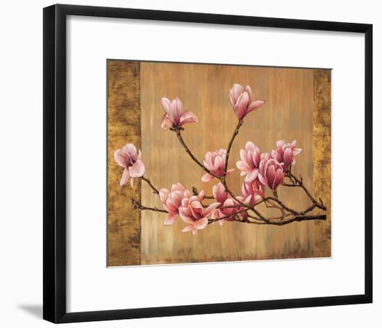 Pink Magnolias-Erin Lange-Framed Giclee Print