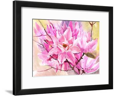 Pink Magnolias-Suren Nersisyan-Framed Art Print