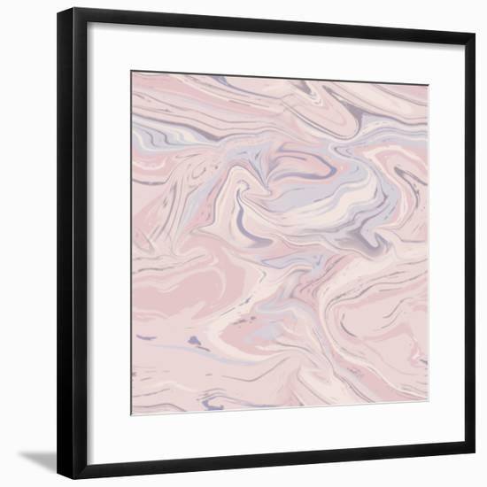 Pink Marble-Lebens Art-Framed Art Print