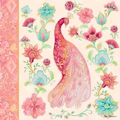 Pink Medallion Peacock I-Janice Gaynor-Art Print