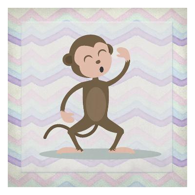 Pink Monkey Time-Kimberly Allen-Art Print