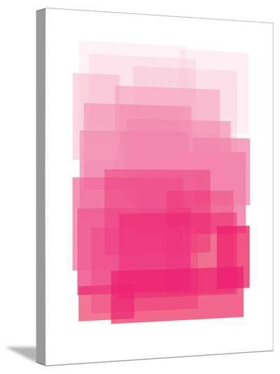 Pink Ombre-Ashlee Rae-Stretched Canvas Print