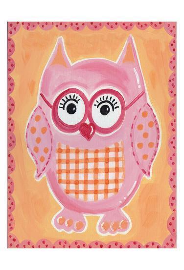 Pink Owl-Tammy Hassett-Art Print