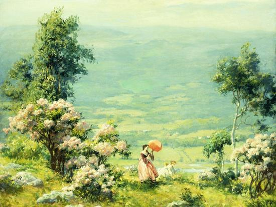 Pink Parasol, 1927-Charles Courtney Curran-Giclee Print