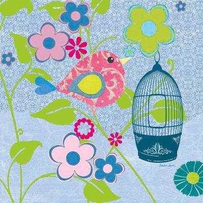 Pink Patterned Bird-Sandra Smith-Art Print