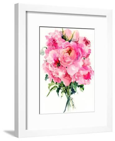 Pink Peonies 3-Suren Nersisyan-Framed Art Print