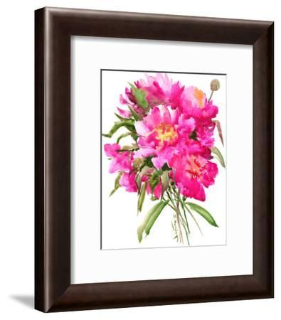 Pink Peonies-Suren Nersisyan-Framed Art Print