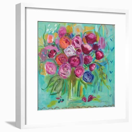 Pink Peonies-Farida Zaman-Framed Art Print
