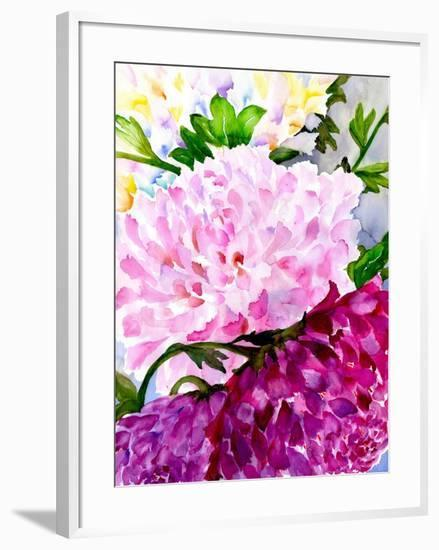 Pink Peony-Neela Pushparaj-Framed Giclee Print