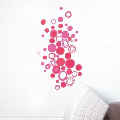 Pink Polka Dots  Wall Decal--Wall Decal