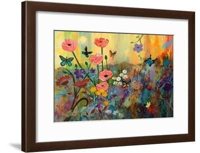 Pink Poppies in Paradise-Robin Maria-Framed Art Print
