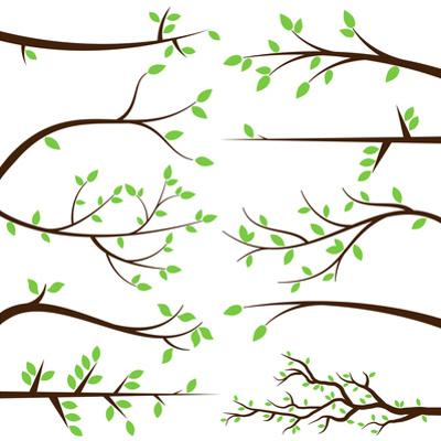 Collection of Tree Branch Silhouettes by Pink Pueblo