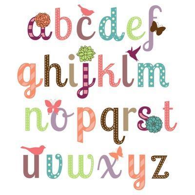 Girly Alphabet Set by Pink Pueblo