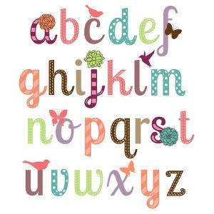 Girly Alphabet Set by Pink Pueblo
