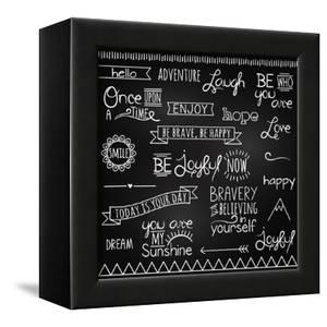 Hand Drawn Chalkboard Style Words, Quotes And Decoration by Pink Pueblo