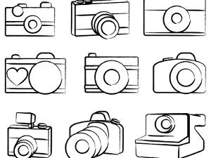 Hand Drawn Set Of Cameras by Pink Pueblo