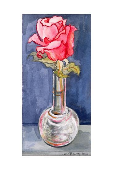 Pink Rose in a Bud Vase, 2000-Joan Thewsey-Giclee Print