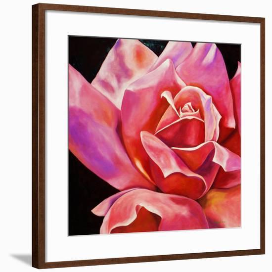 Pink Rose-Hyunah Kim-Framed Art Print