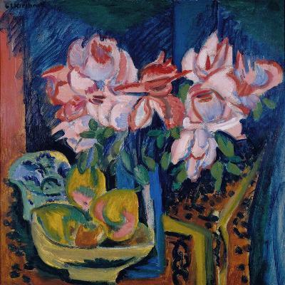 Pink Roses, 1918-Ernst Ludwig Kirchner-Giclee Print