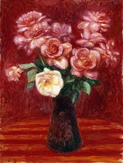 Pink Roses-William James Glackens-Giclee Print