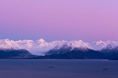 Pink Sky over Grewingk Glacier-Latitude 59 LLP-Photographic Print