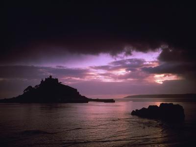 Pink Sky over St. Michael's Mount-Design Pics Inc-Photographic Print