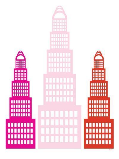 Pink Sky Scrapers-Avalisa-Art Print