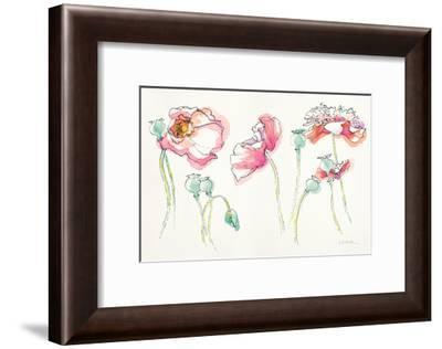 Pink Somniferums Bright-Shirley Novak-Framed Art Print
