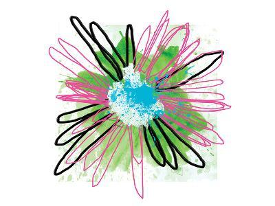 Pink Splash Flower-Elle Stewart-Art Print