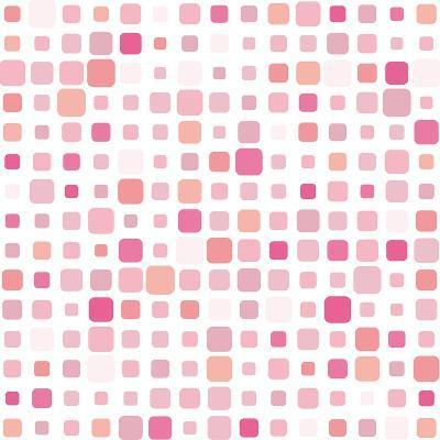 Pink Square Mosaic- SvetlanaR-Art Print