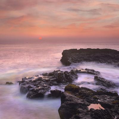 Pink Sunset, the Big Island, Hawaii, Usa-Tim Fitzharris-Photographic Print