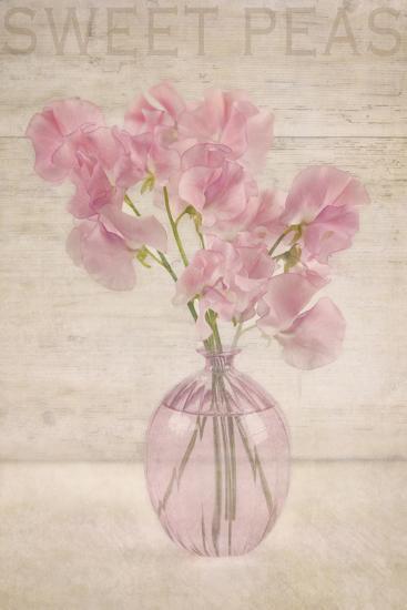 Pink Sweet Peas-Cora Niele-Photographic Print