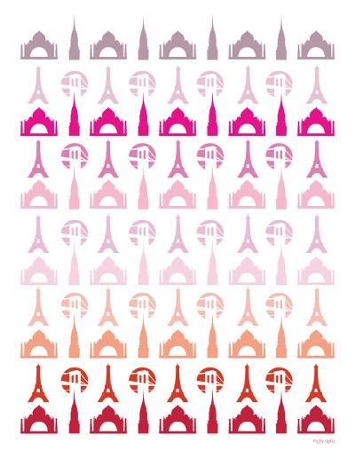 Pink Travel Architecture-Avalisa-Art Print