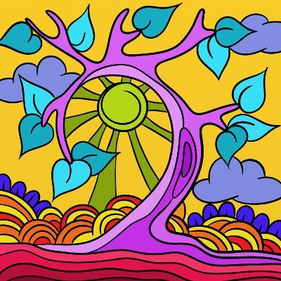 Pink Tree-goccedicolore-Art Print