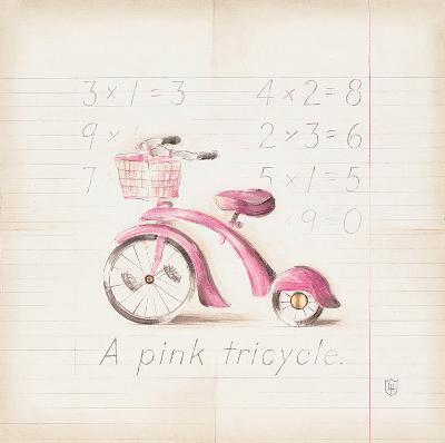 Pink Tricycle-Lauren Hamilton-Art Print