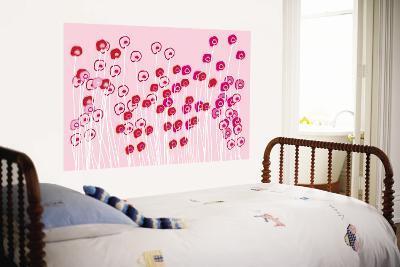 Pink Wild Flowers-Avalisa-Wall Mural