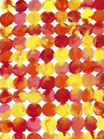 Pink Yellow Red Orange Flowing Paint-Amy Vangsgard-Giclee Print