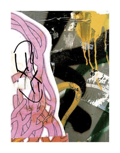 Pink Yellow Tag 1-Jenny Kraft-Art Print