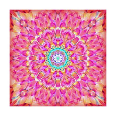 Pink You Beautiful Mandala-Alaya Gadeh-Art Print