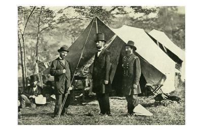 Pinkerton, Lincoln and McClernand--Art Print