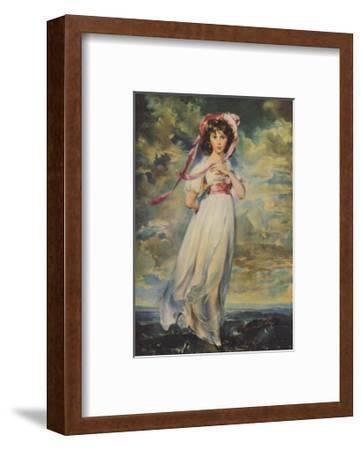 Pinkie, Sarah Barrett Moulton, 1794-Thomas Lawrence-Framed Art Print