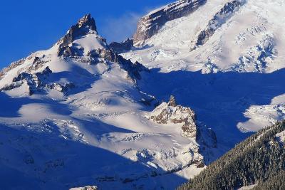Pinnacle and Glacier on Mount Rainier-Paul Souders-Photographic Print