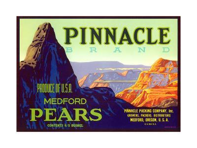 Pinnacle Pear Label--Art Print