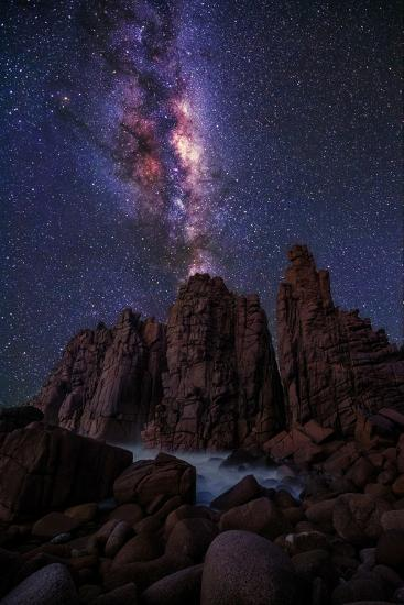 Pinnacles Milky Way-Lincoln Harrison-Photographic Print